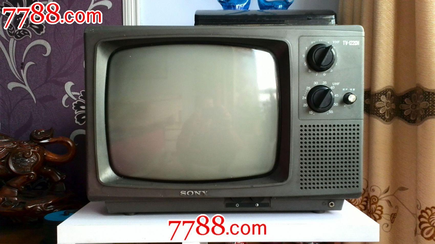 索尼牌tv-122gh黑白电视机