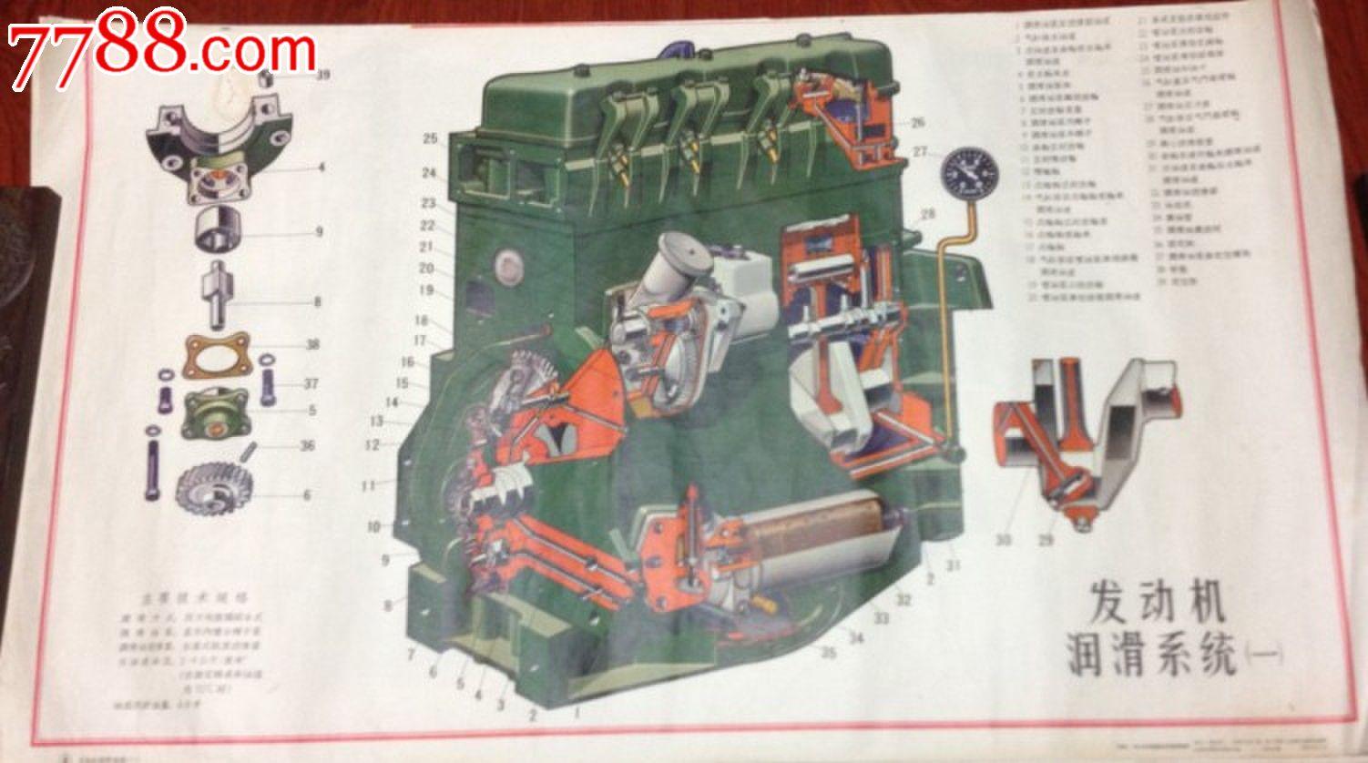 丰收--35水田型拖拉机结构挂图