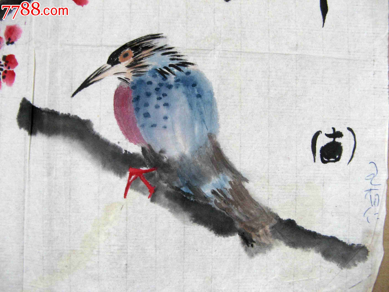 精到的尺半横幅花鸟画 春之曲