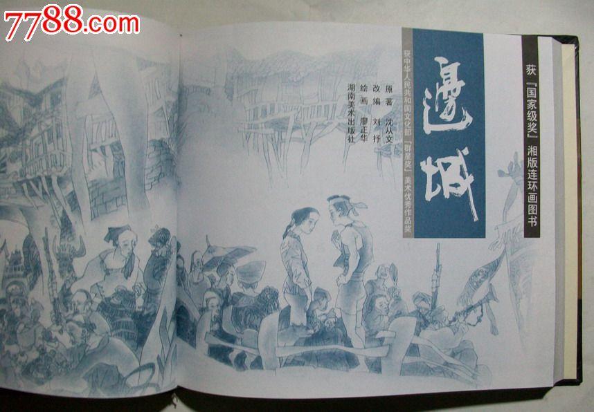 边城书籍手绘海报