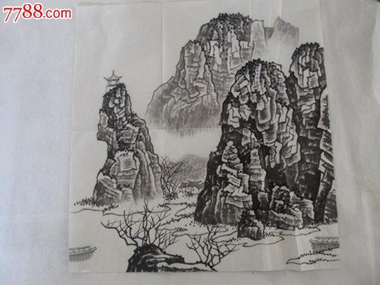 精品名家手绘国画山水