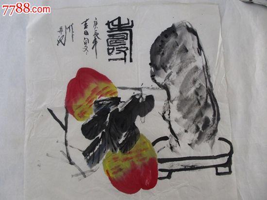 精品名家手绘国画祝寿图
