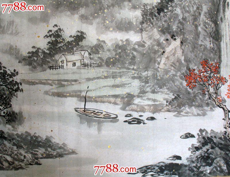 字画保真国画水墨山水画客厅四尺黄志君(军)手绘真迹x50709