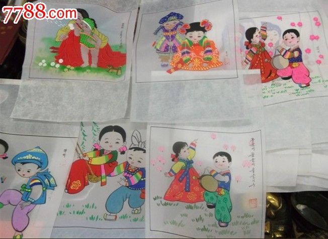 朝鲜族丝织画,喜庆画,收藏画,送礼佳品图片