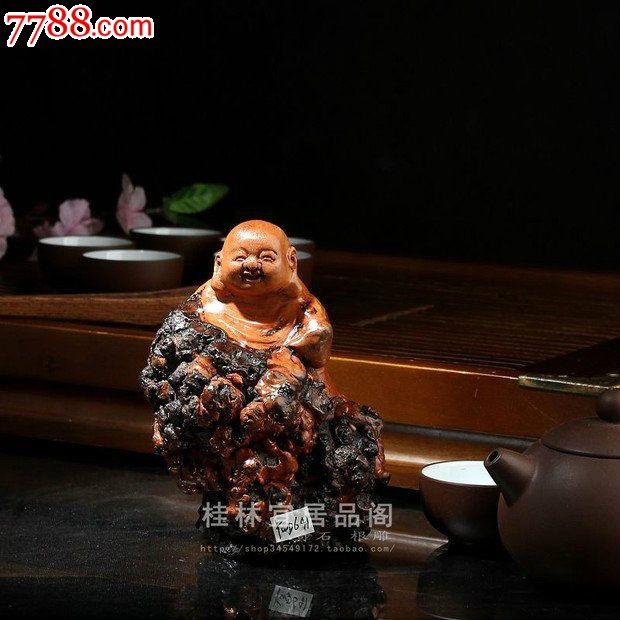 宜居品阁根雕木雕人物雕像桌面摆件茶树根瘤佛像罗汉ywd641