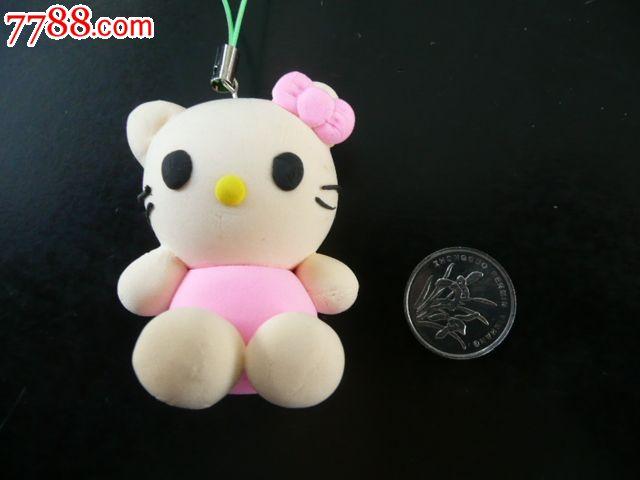 创意彩泥儿童玩具钥匙扣手机链饰品挂件(kitty猫)