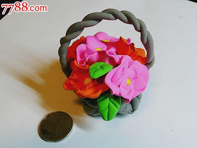 创意彩泥儿童玩具饰品(花篮)