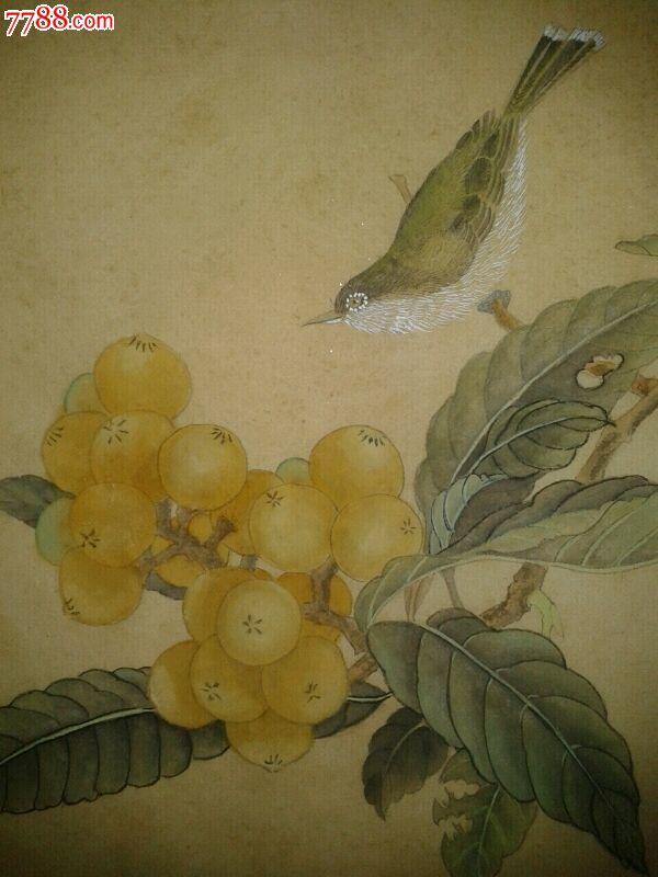 琵琶山鸟图