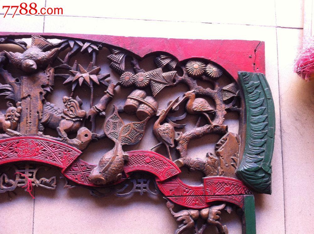 清代老樟木动物花板