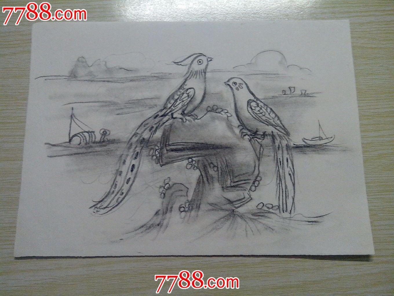 速写临摹动物铅笔画