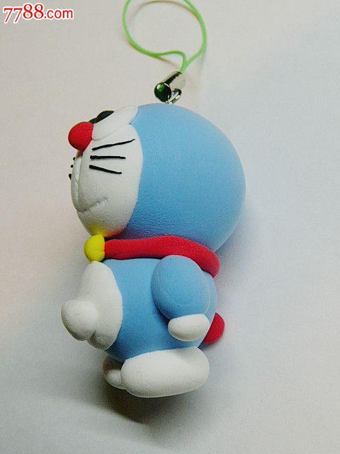 创意彩泥儿童玩具钥匙扣手机链饰品挂件(机器猫)【烟标铺子】_第2张