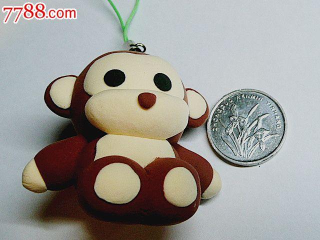 创意彩泥儿童玩具钥匙扣手机链饰品挂件(小猴)【烟标铺子】_第1张