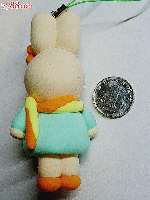 创意彩泥儿童玩具钥匙扣手机链饰品挂件(小兔子)_第2张_7788收藏