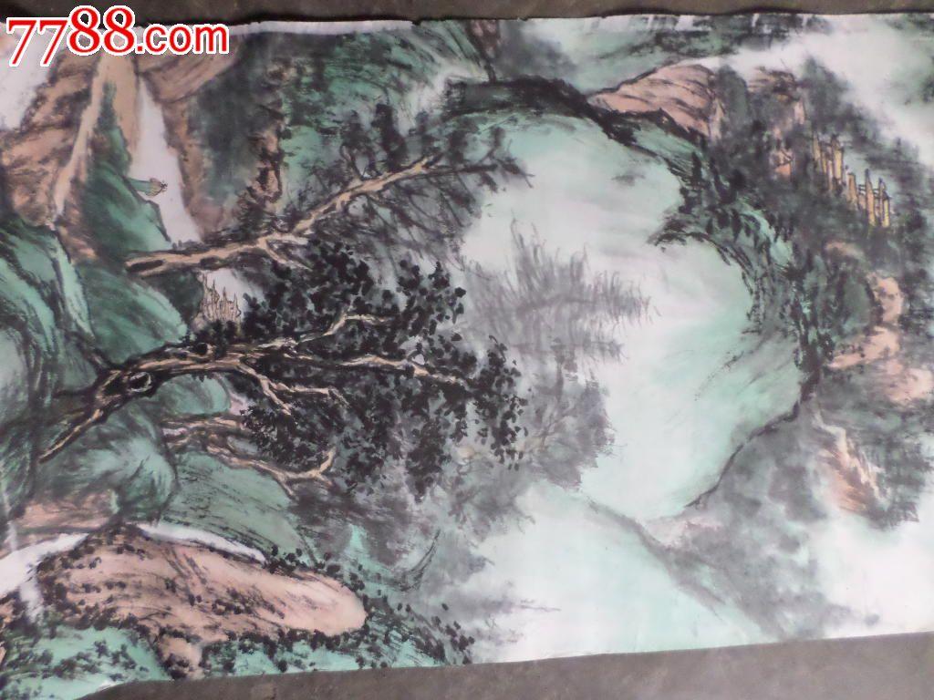 老叟绘画作品 深山藏古寺