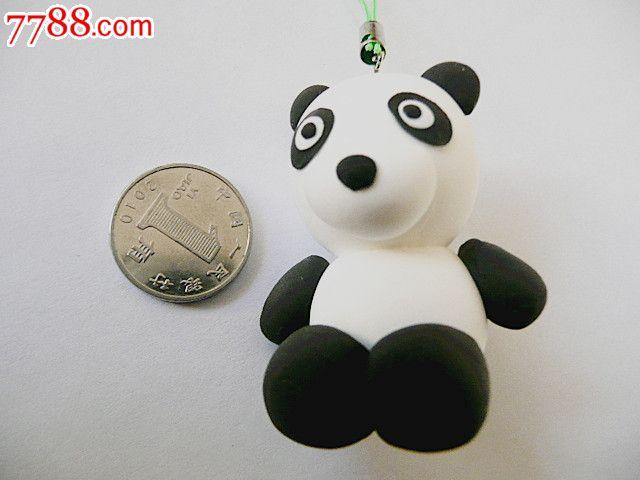 创意彩泥儿童玩具钥匙扣手机链饰品挂件(熊猫)【烟标铺子】_第1张