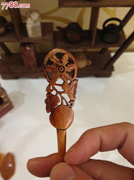 清代骨头材质饭勺骨勺02