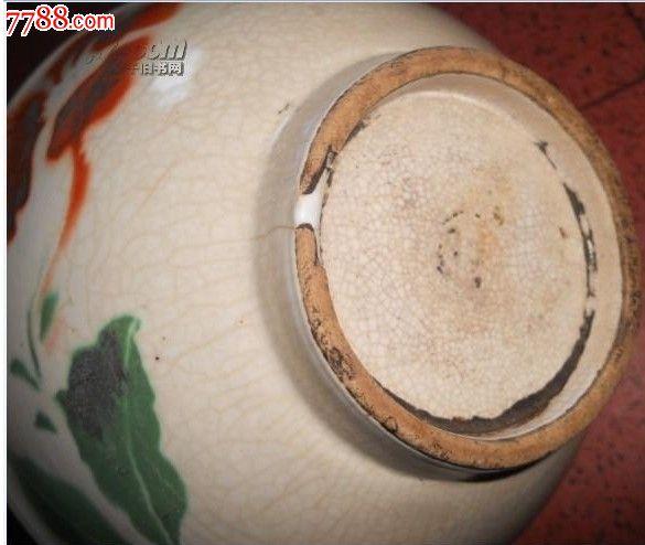碎片状手绘花瓷碗一个