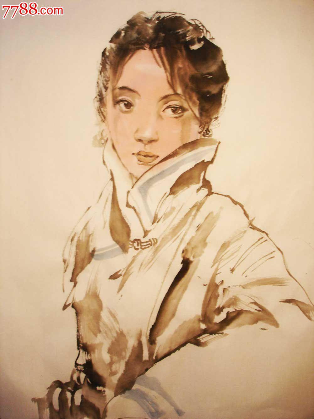 藏族姑娘图片手绘