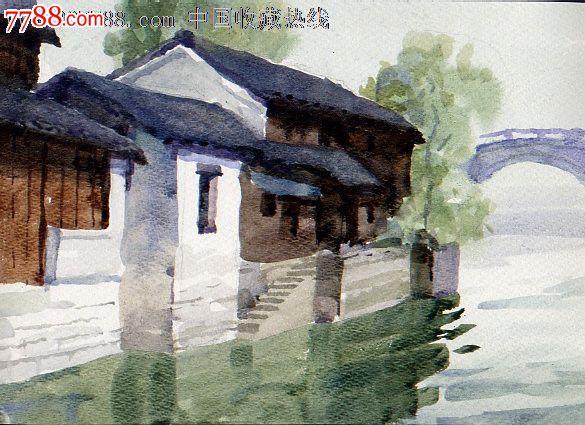 hhh 品种: 水粉/水彩原画-水粉/水彩原画 属性: 水彩原画,,建筑风景