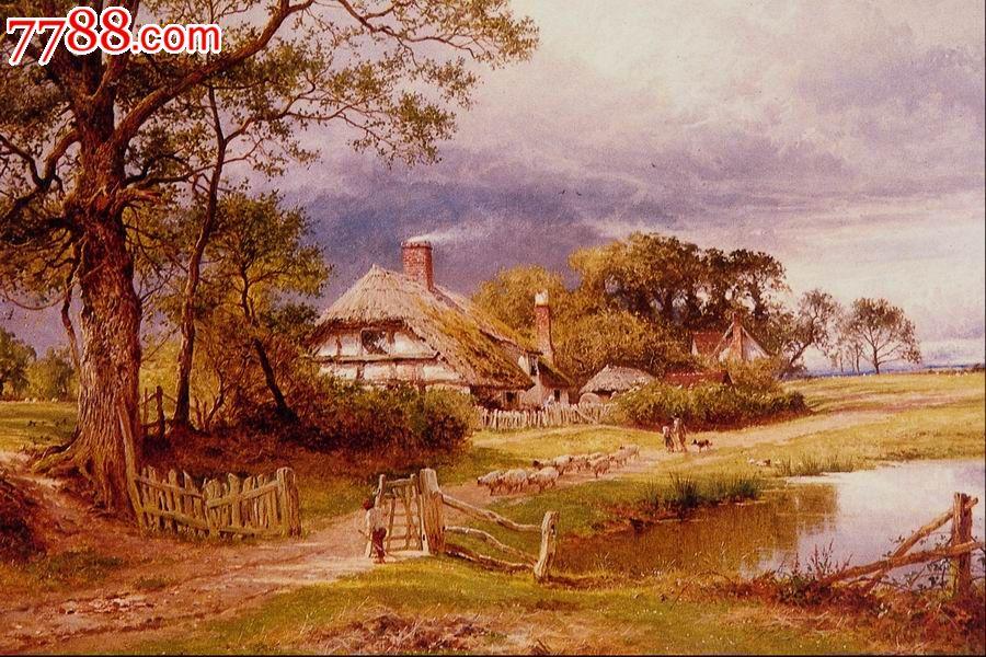世界名画,欧陆风景,山,水,树,路,高清图片_价格10.