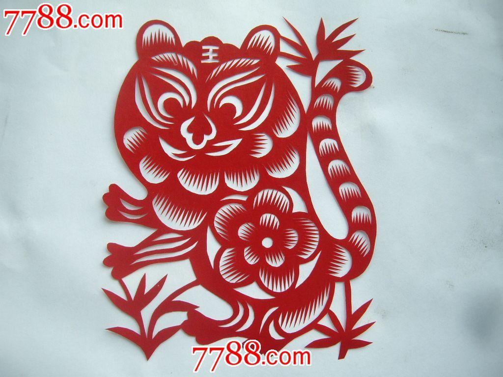 陕北纯手工剪纸:十二生肖第一组,鼠牛虎兔龙蛇共六张
