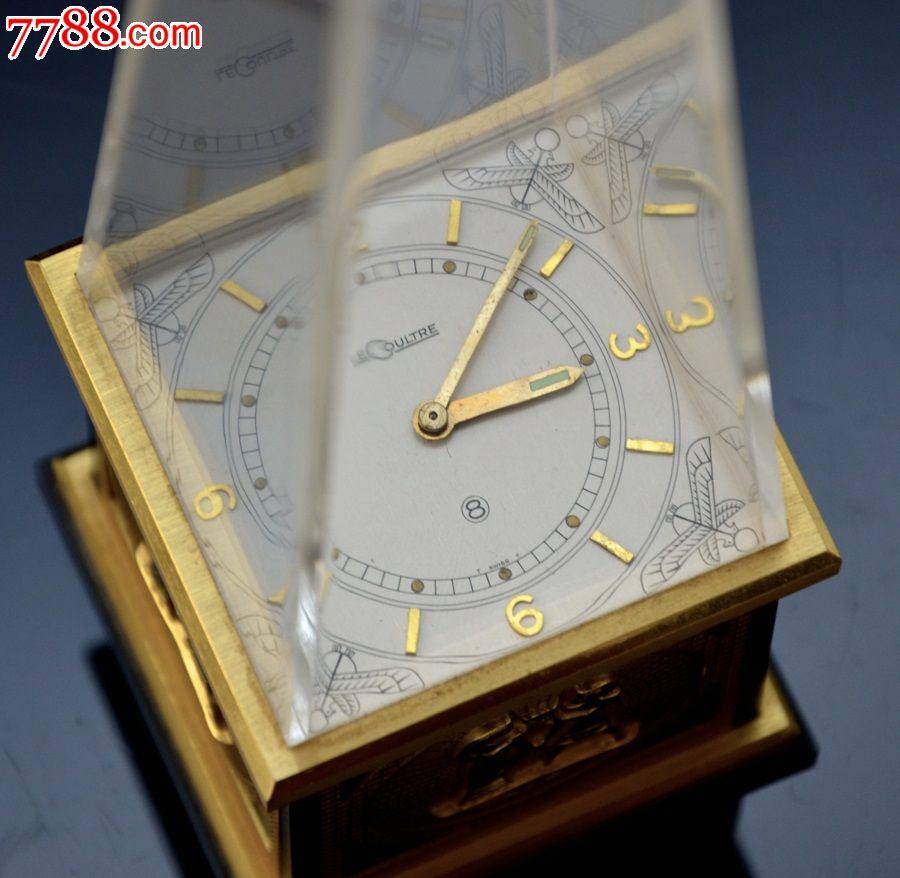 古埃及金字塔铜鎏金积家钟