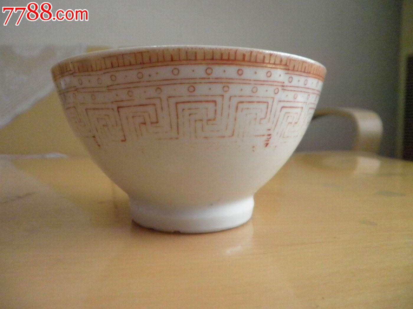 手绘回形纹碗