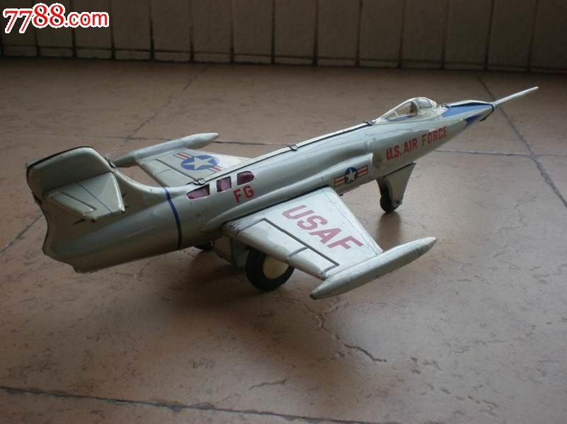 日本铁皮玩具美军f-104鬼怪式飞机