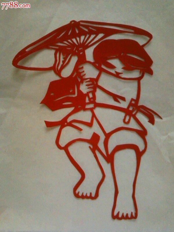 文革题材剪纸——小学生
