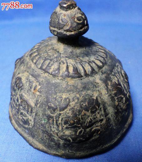 古代铜佛塔顶宝塔顶佛教俗家弟子在家中供奉的宝塔顶