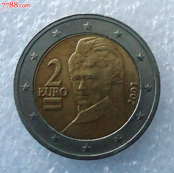 奥地利2002年2欧元图片