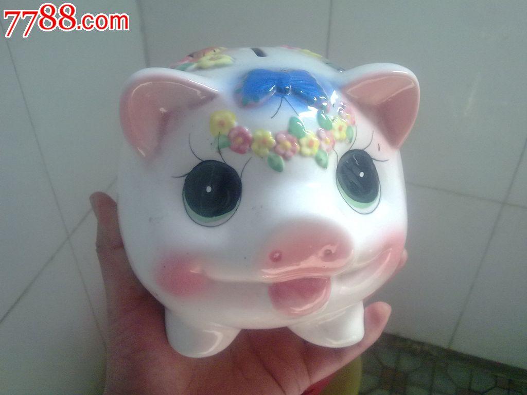 可爱的小猪存钱罐