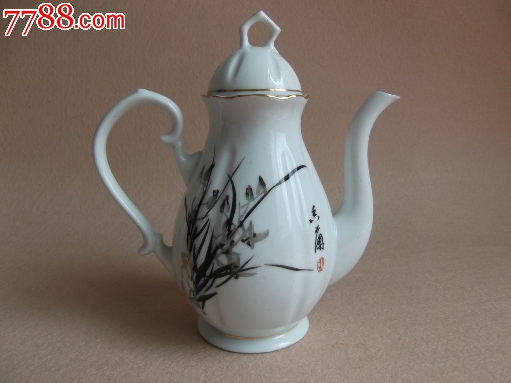 80年代手绘兰花茶壶-se22786714-彩绘瓷/彩瓷-零售