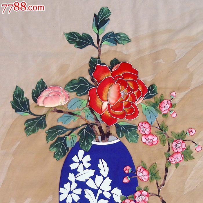 布贴画-花瓶6_价格1500元