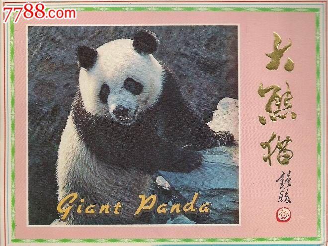 大熊猫美术明信片