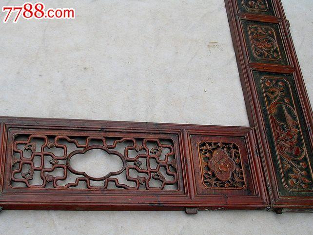 木雕花板包老明清床古玩窗花板明清家具木雕古董屏风人物木雕收藏浮雕