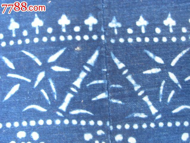 手工织染蓝花布