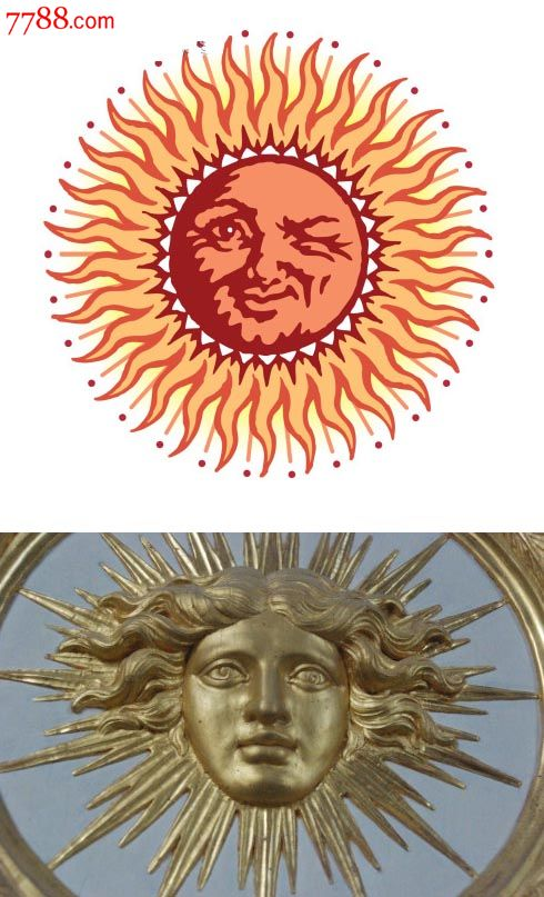 19世纪太阳老公公高银吊坠/欧式形象老吊饰物p