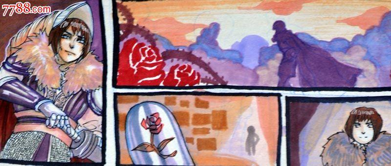 原创手绘漫画—骑士与龙