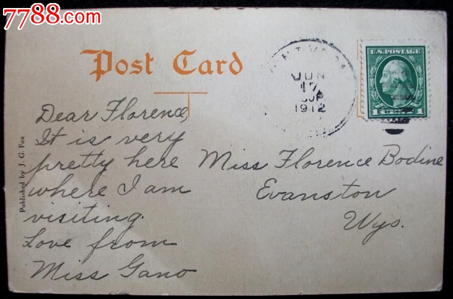 有旧黑白风景照片.邮票印戳.非常稀少