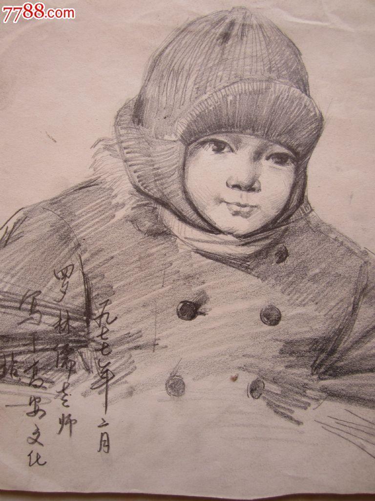 铅笔画老人漫画素描