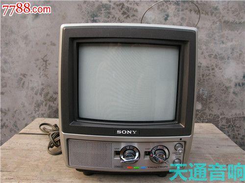 索尼sony老式高级6寸彩色电视机型号kv-9300