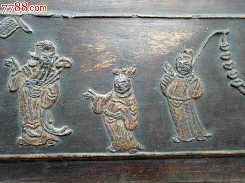 民国楠木人物故事浮雕花板-se23282279-木雕花板-零售