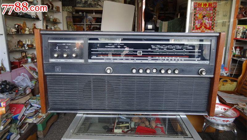 前苏联产大型老收音机带电唱机
