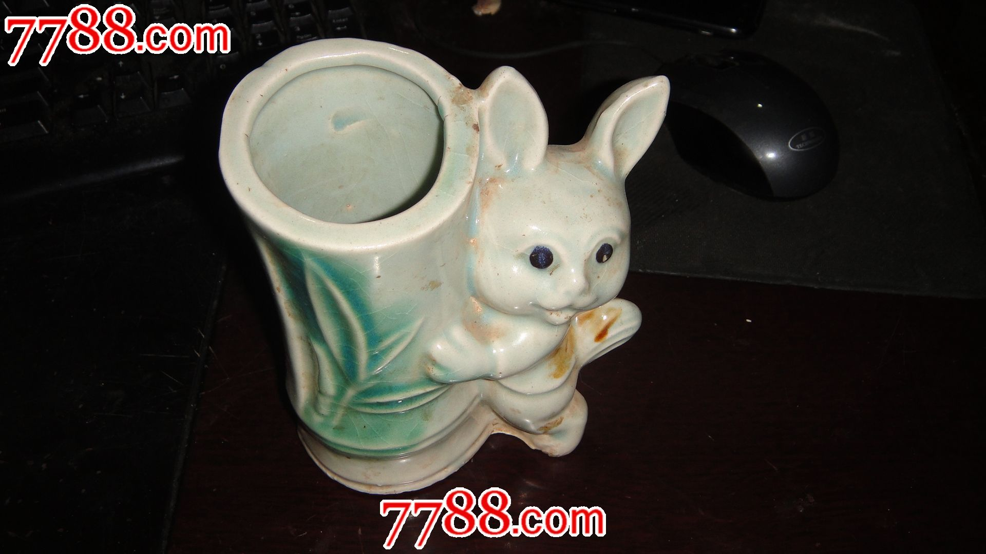 兔子笔筒【山水花鸟】_第1张_7788收藏__中国收藏热线