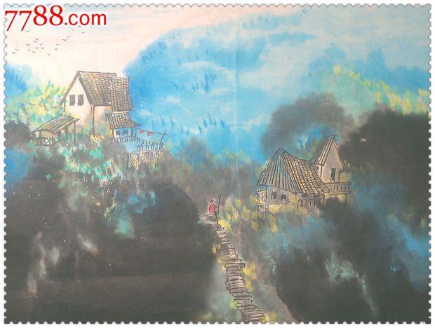 独特漂亮的手绘山水纹水彩画_水粉/水彩原画_尚品斋