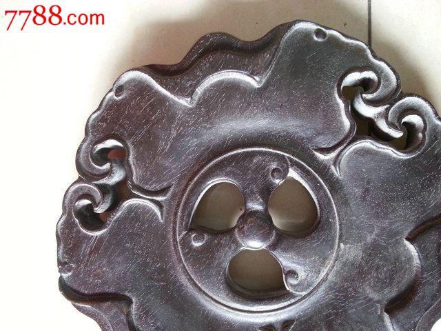 老木雕紫檀木香炉底座木托直径20cm
