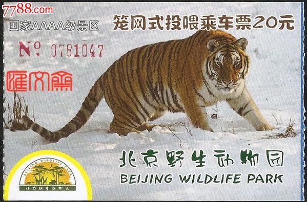 【北京野生动物园-笼网式投喂乘车票】20元雪地行走老虎