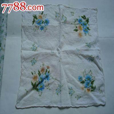 5 属性:棉制,,印花,,年代不详,,正方形,,其他图案,,, 简介:花卉手帕一