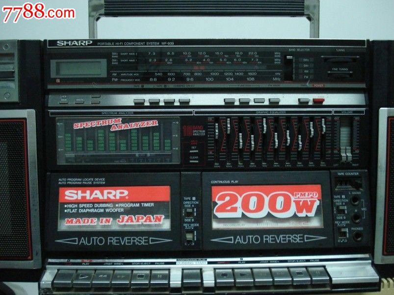 经典之作日本sharp-夏普wf939收录机/好品好功能